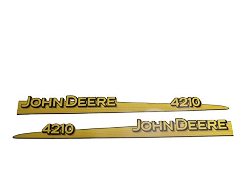 John Deere 4210 hood trim strip set decals LVU12281 LVU12282
