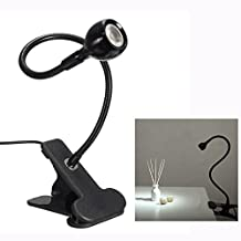 Cisixin Table Light Adjustable USB Power LED Flexible 1W Energy Natural Light Reading Clip-on For PC bedside Clamp Laptop