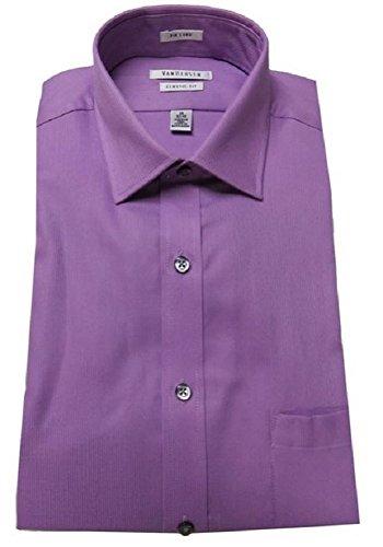 Van Heusen Men's Pincord Texture Solid (15.5 34/35, Tulip) - Van Heusen Pink Dress Shirts