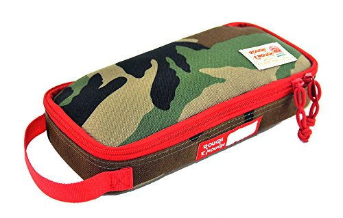 Rough Enough Multi-Function CORDURA Soft Polyester Portable Fashion Large Pencil Case Tools Pouch Holder Organizer Storage Bag for Kits Accessories Stationary Kids Boys Students Sports Outdoors
