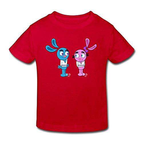 Toddler's 100% Cotton Yin Yang Yo Funny T-Shirt Red US Size 4 Toddler