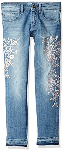 GUESS Big Girls' Embroidered 5 Pocket Jean
