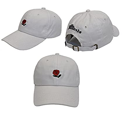 85d1f105 XENO-The Hundreds Dad Hat Flower Rose Embroidered Curved Brim Baseball Cap  Visor Hat(white): Amazon.ca: Home & Kitchen