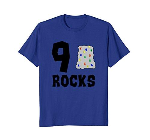 9 Year Old Rock Climbing Birthday Party 9th Birthday Shirt