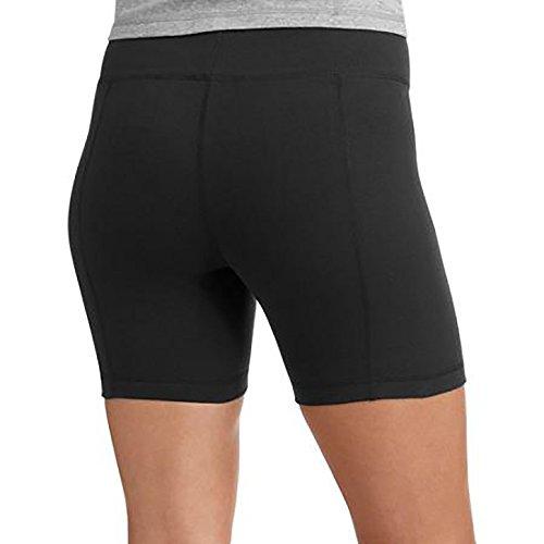 Danskin Womens 5-Inch Bike Shorts (regular and plus sizes) (XX-Large, Black)