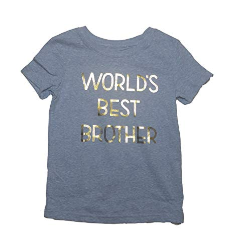 """Cat & Jack """"World Best Brother T-Shirt (4T) Blue from Cat & Jack"""