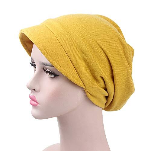 retch Hat Warm Cashmere Ski Skull Slouchy Caps(Free Size,Yellow) ()
