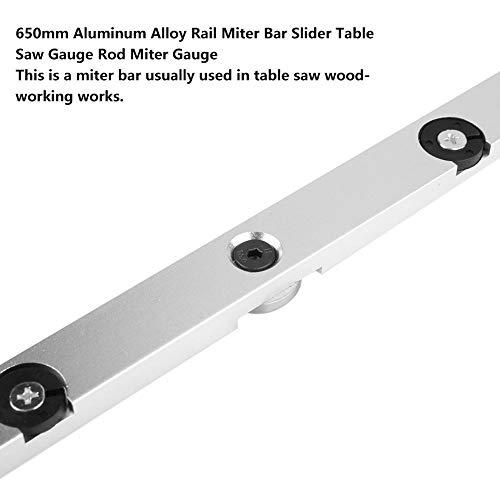 Strong Strength Adjustable Runner 650mm Rail Miter Bar 650 mm Hreaded Mounting Holes Rail Miter Bar Slider Electricity for Metallurgy