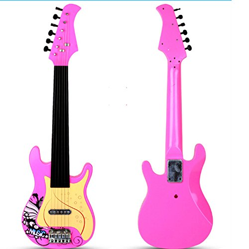 E Support™ 26″ Children Simulation Electric Guitar Kid's 6 String Musical Instruments Toys for Begginers Pink
