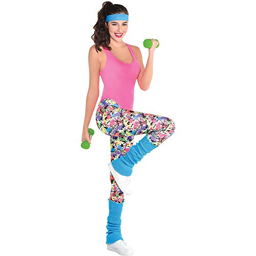 Party City Jazzercise Halloween Costume Kit for Adults with Leotard, Leggings and More, One Size, 4 ()