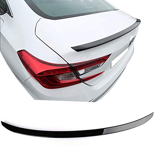 Trunk Spoiler Fits 2018-2019 Honda Accord | Glossy Black GBK Trunk Boot Lip Spoiler Wing Deck Lid By IKON MOTORSPORTS
