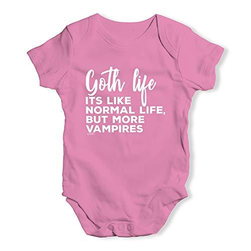 Baby Onesies Goth Life Baby Unisex Baby Grow Bodysuit 0-3 Months Pink -
