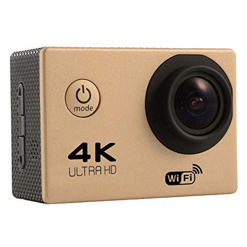 Sports CAMERA CJZC F60 2.0 inch Screen 4K 170 Degrees Wide Angle WiFi Sport Action Camera Camcorder with Waterproof Housing Case, Support 64GB Micro SD Card(Black) (Color : Gold)