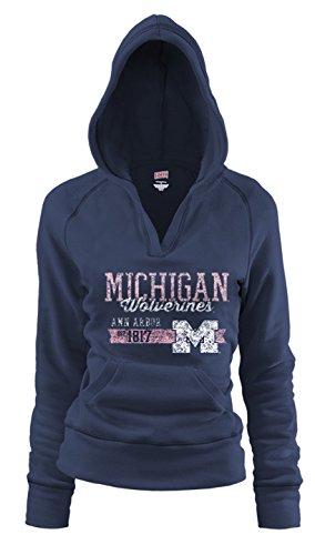 NCAA Michigan Wolverines Junior Rugby Deep College Logo Fleece Hoodie, ()