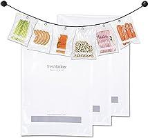"Freshlocker 100pcs 8""x12"" Vacuum Sealer Bags 4 mil Embossed Commercial Grade food saver bags rolls for food preservation and sous vide"