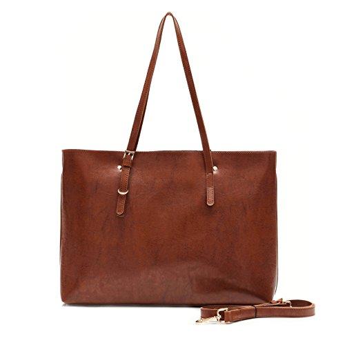 Ali Victory Large Satchel Shoulder Bag for Women Crossbody Handbag (Brown)