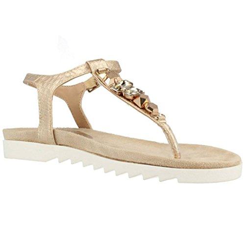 Sandalias y chanclas para mujer, color gold , marca YELLOW SHOP, modelo Sandalias Y Chanclas Para Mujer YELLOW SHOP NEWCASTLE Gold Gold