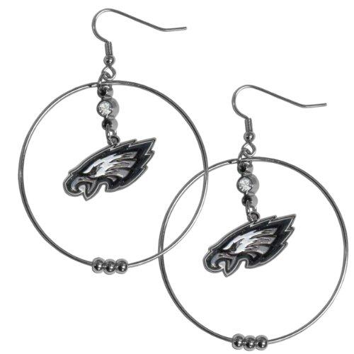 (NFL Philadelphia Eagles Hoop Earrings, 2-Inch)