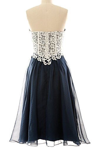 MACloth Women's High Neck Short Lace Homecoming Prom Dress Formal Party Gown (EU40, Verde Oscuro)