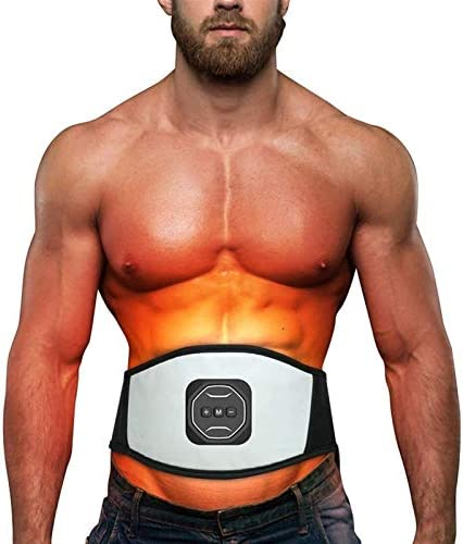 Electric Back Massagers Electric Waist Thin Abdomen Sauna Belly Belt Belly Belt Fat Burner Fitness Machine Muscle Trainer Fast Weight Loss Men's Fitness Heating Pads 1
