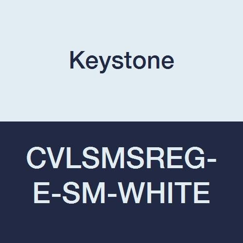 Elastic Wrists and Ankles Zipper Front Single Collar Keystone CVLSMSREG-E-SM-White SMS Coverall Pack of 25 White Small