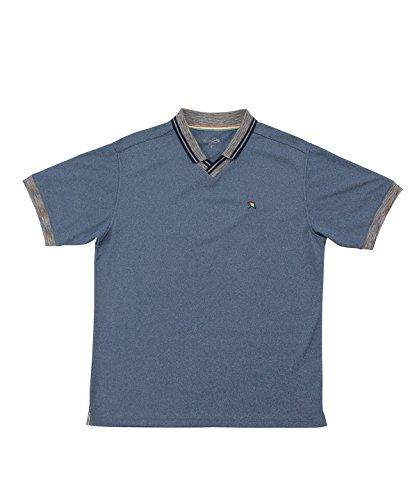 アーノルドパーマー メンズ ゴルフ ポロシャツ 半袖 メランジ衿スキッパー半袖シャツ AP220101H02 ID/NV M