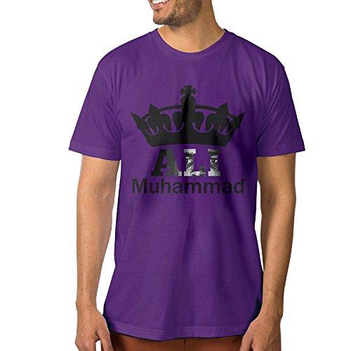 [Customize Men's Tee Muhammali Crown King Boxer 3X Purple] (Crazy One Direction Fan Costume)
