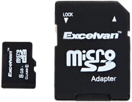 Excelvan® Tarjetas micro SD 8GB TF SDHC Tarjetas de memoria + ...