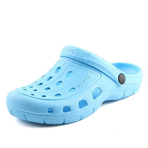 Kurop Women's Garden Shoes Summer Beach Sports EVA Clogs Sandal Slippers Light Blue
