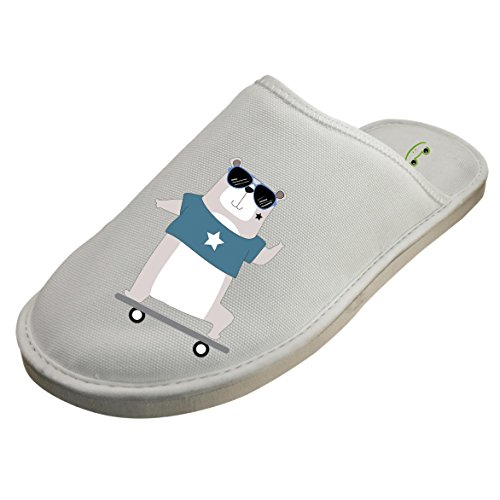 Cotton A Bear With A Skateboard House Slippers Baboosh Chinela Slipper by 4B854DF6B