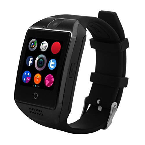 CHEREEKI Smart Watch with Camera Supports SIM / TF Card Bluetooth Smartwatch Pedometer Curved Screen Bracelet Wrist Watch Phone for Android Smartphones
