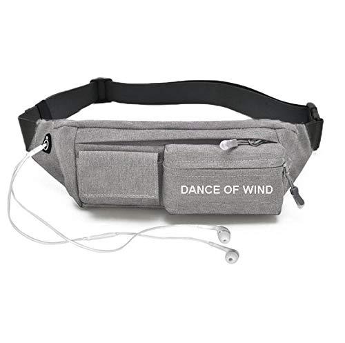 REAVEE Slim Fanny Pack Water Resistant Waist Pack Bag Multiple Pockets Workout Running Belt Hiking Bag Sling Chest Shoulder Bag