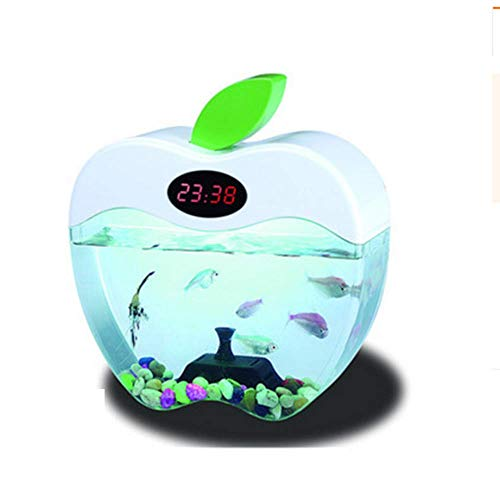 (SISHUINIANHUA Creative Desktop Fish Tank Aquarium Small Ornamental Goldfish Tank Ecological Acrylic Fish Tank)