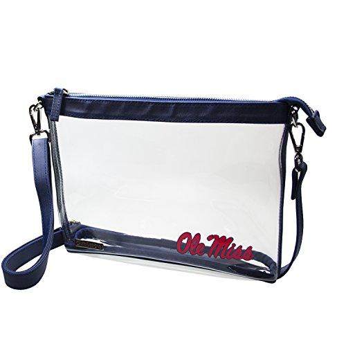 Capri Designs Clear Large Crossbody Bag Stadium Approved - UM Ole Miss