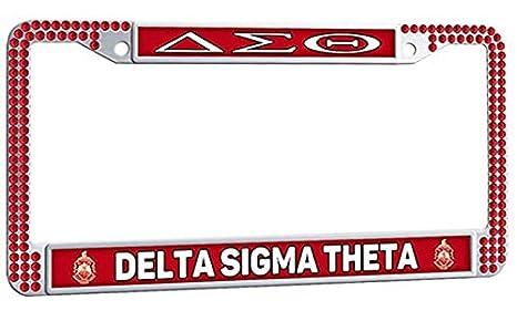Amazon.com: DELTA SIGMA THETA Cute Auto License Plate Frame ...