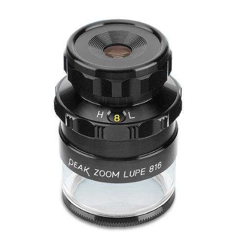 PEAK TS2044 Zoom Measuring Loupe, 8X - 16X Magnification, 0.40'' Lens Diameter, 0.79'' - 0.40'' Field View by START International