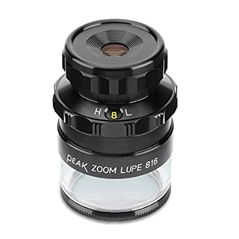 8X PEAK TS2044 Zoom Measuring Loupe 16X Magnification 0.40 Lens Diameter 0.79-0.40 Field View