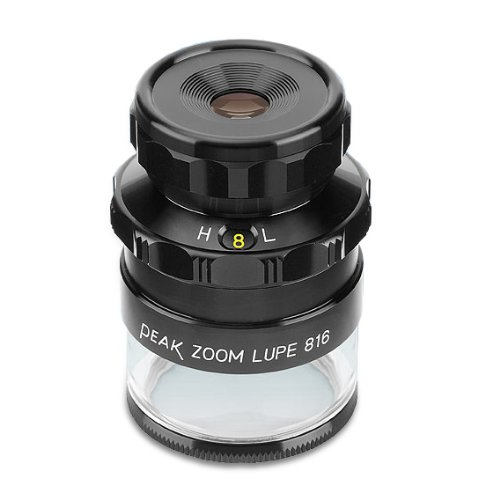 PEAK TS2044 Zoom Measuring Loupe, 8X - 16X Magnification, 0.40'' Lens Diameter, 0.79'' - 0.40'' Field View by START International