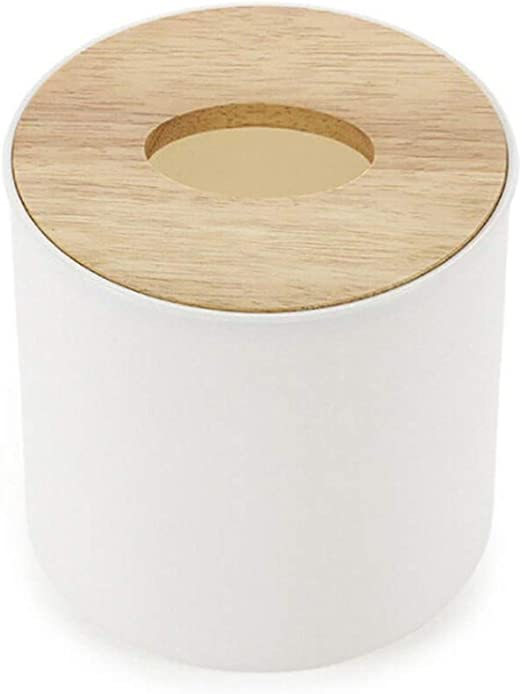 Suneast Caja de pañuelos de madera y plástico, funda para ...