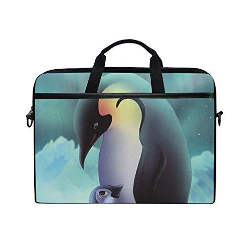 Alaska Penguins - Alaska Penguin Laptop Shoulder Messenger Bag 15.4 Inch Carrying Handbag