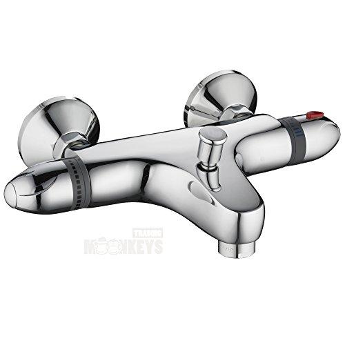 Wannenthermostat-Thermostat Armatur-Wannenarmatur-Chrom mit ... | {Badewannenarmaturen mit brause 97}