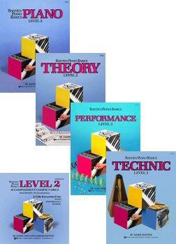 Bastien Piano Basics: Level 2 Set and CDs (4 Book, 2 CD Set, Piano, Theory, Technic, Performance Books, and Accompaniment CDs)