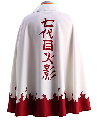 OURCOSPLAY US Size Men's Uzumaki Cloak 7th Hokage Cloak Boruto Cosplay Costume (Men US M(CN XL))