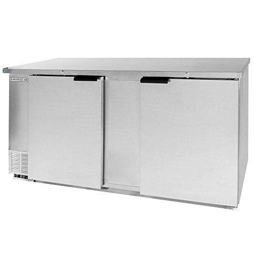 Beverage Air BB68F-1-S Two-Section Refrigerated Food Rated Back Bar Storage Cabinet 68