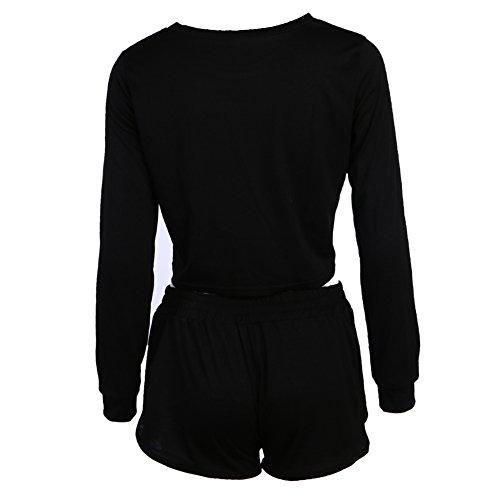 La Cabina Femme Sexy Suite Ensemble en 2 PCS Sweat-shirt + Pantalon Short Sexuel pour Sport Cocktail Bar Club