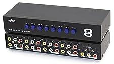 MT-VIKI 8 Ports 8-In 1-Out AV RCA Splitter Selector Switch Adapter MT-831AV