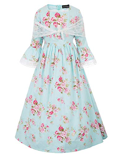 Pioneer Girls Dress Colonial Prairie Costume 8Y Color-2