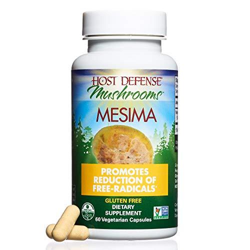 Host Defense – Mesima Mushroom Capsules, Antioxidant Rich Support to Defend Against Free Radical Damage, Non-GMO, Vegan, Organic, 60 Count