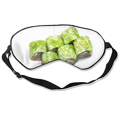 Good Night Sleep Mask - Sushi Caviar Japanese Cuisine Eye Cover, Soft & Comfortable Blindfold for Total Blackout & Light Blocking