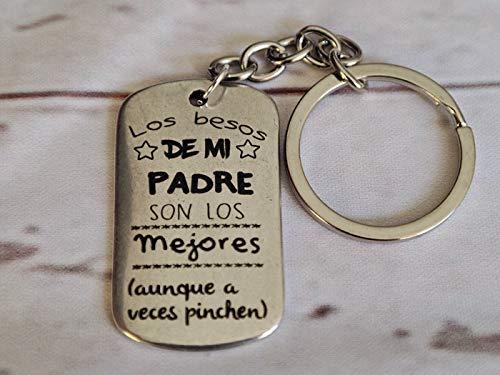 Llavero Papa pincha - Tamaño 42×28 mm. Placa con mensaje ...